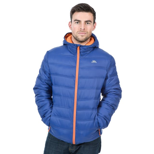 Irrate Men's Padded Casual Jacket in Navy