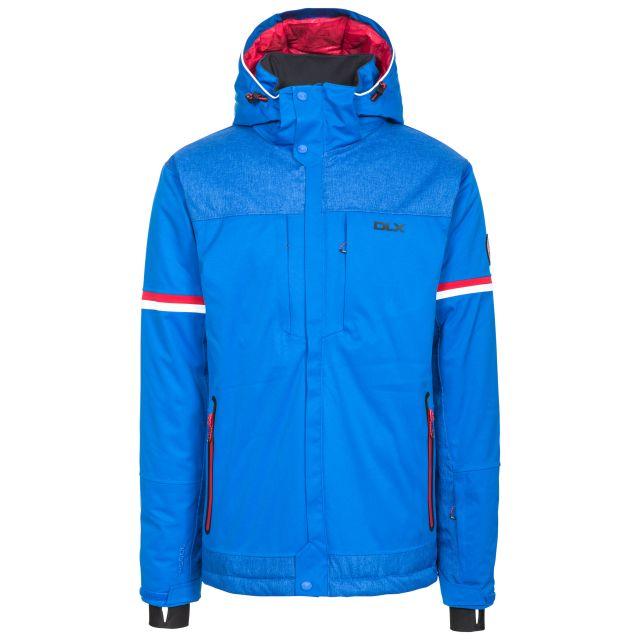 Izard Men's DLX Waterproof Ski Jacket in Blue, Front view on mannequin