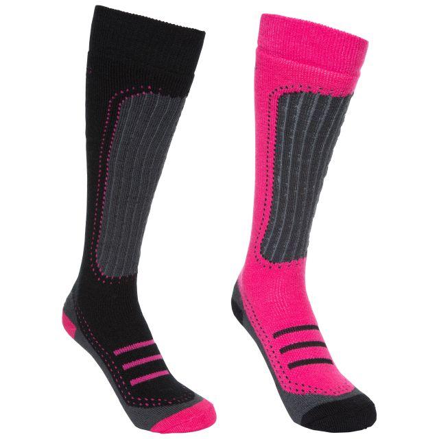 Janus II Women's Ski Tube Socks in Pink