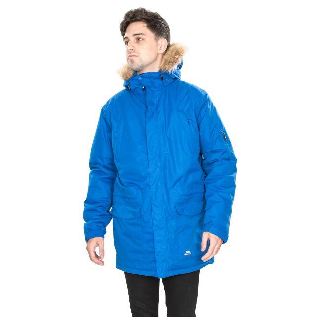 Jaydin Men's Waterproof Parka Jacket in Blue