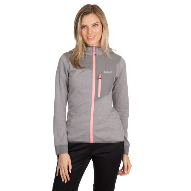 Jazmin Women's DLX Quick Dry Hoodie in Light Grey