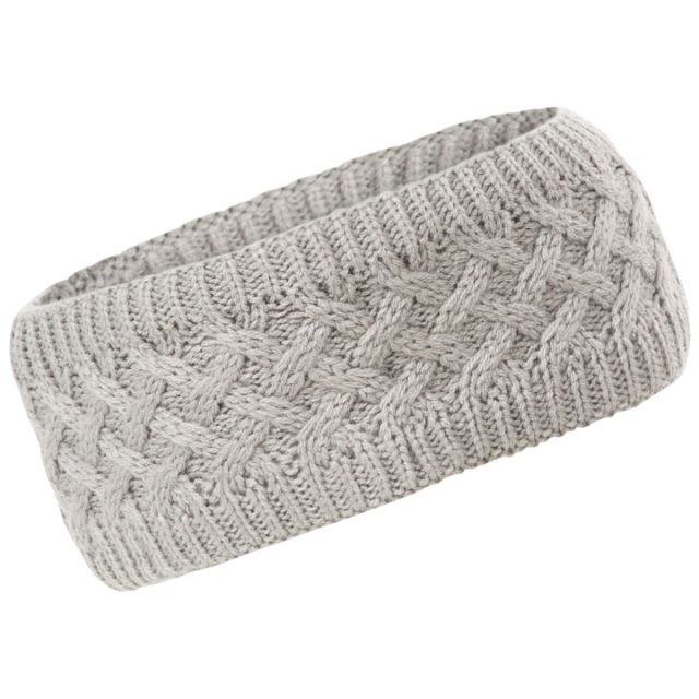 Trespass Adults Headband Microfleece Lined Cable Knit in Dark Grey Marl