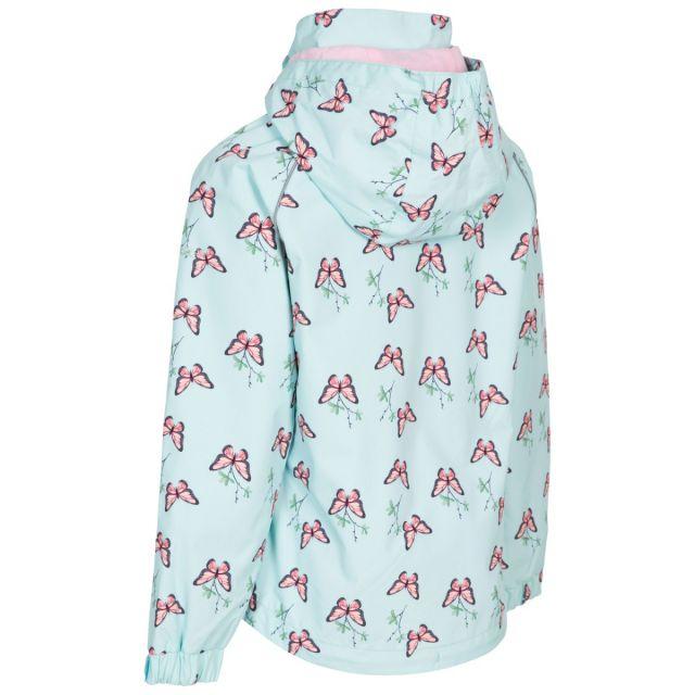 Trespass Girls Printed Waterproof Jacket in Spearmint Joyful