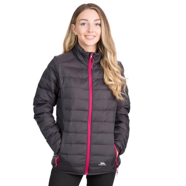 Trespass Womens Packaway Jacket Lightweight Julianna in Black