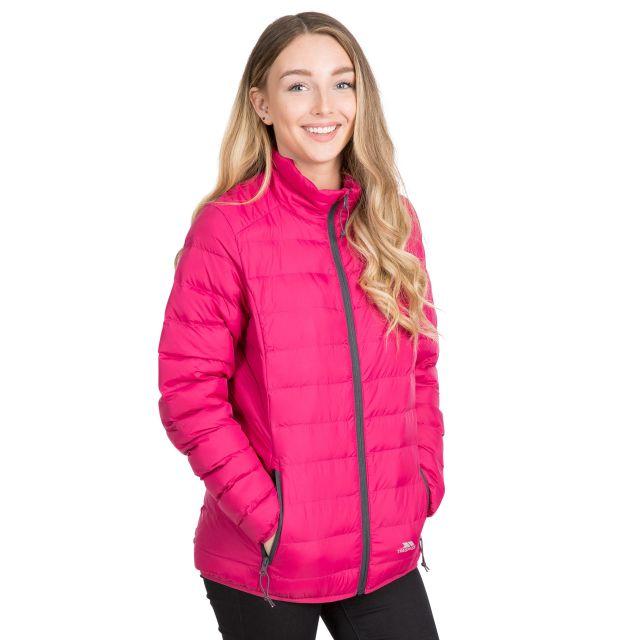 Trespass Womens Packaway Jacket Lightweight Julianna in Pink