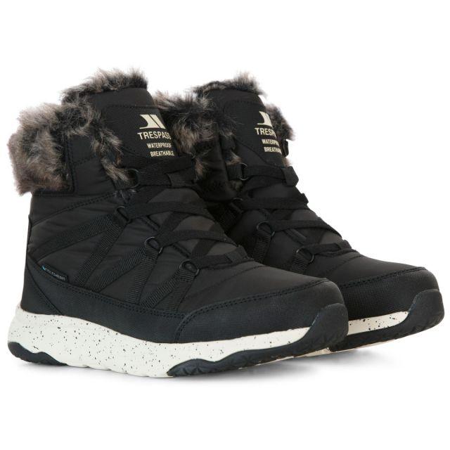 Trespass Womens Winter Boots Waterproof Insulated Kenna in Black