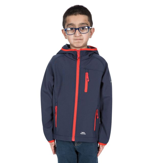 Kian Kids' Softshell Jacket in Navy