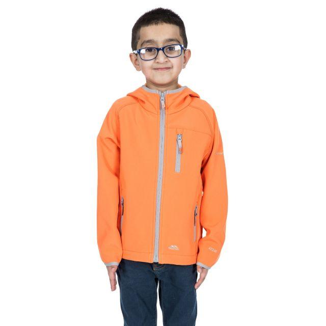 Kian Kids' Softshell Jacket in Orange