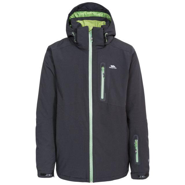 Kilkee Men's Waterproof Ski Jacket in Black, Front view on mannequin