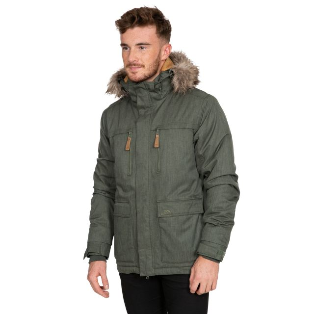 King Peak Men's Insulated Waterproof Windproof Jacket in Green
