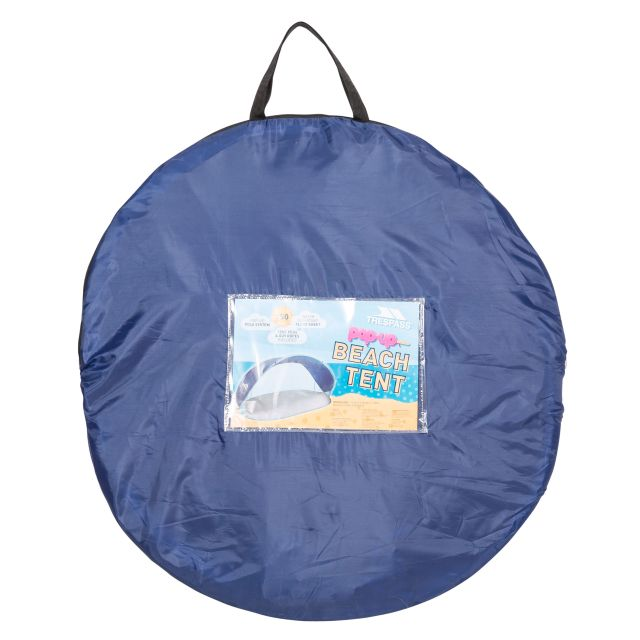 Trespass Pop Up Beach Tent UV SPF 50 1.25m x 2.4m Kingsbarn Blue
