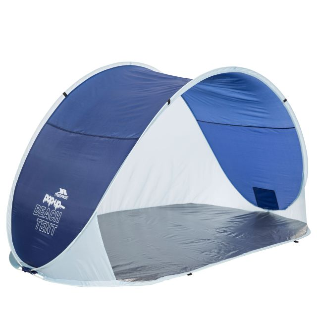 Trespass Pop Up Beach Tent UV SPF 50 1.25m x 2.4m Kingsbarn Blue, Packed view