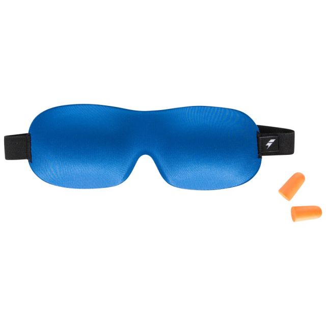 Eye Mask and Ear Plug Set in Blue, Front view
