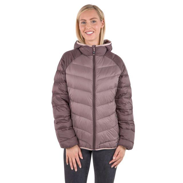 Trespass Womens Down Jacket Hooded Kirstin in Light Purple