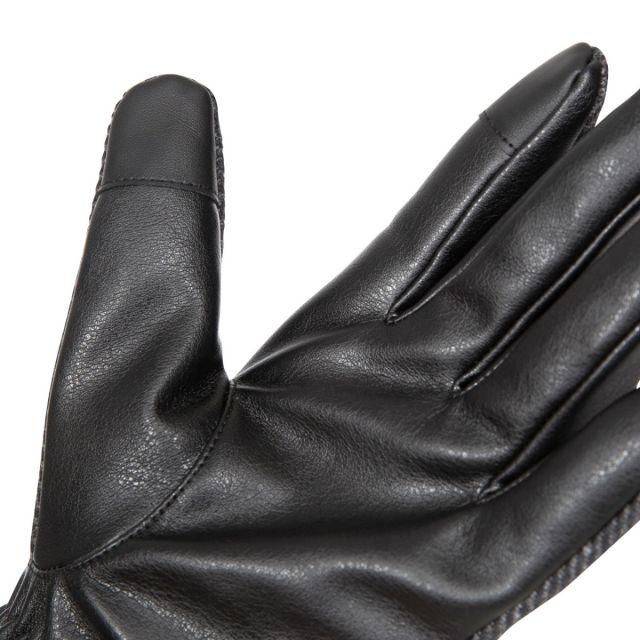 Trespass Unisex Adult Gloves in Black/Storm Grey Tweed Kita