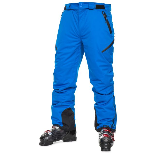 Kristoff Men's DLX Salopettes in Blue, Front view on model