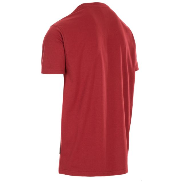 Trespass Men's Casual Short Sleeve Graphic T-Shirt Lakehouse Merlot