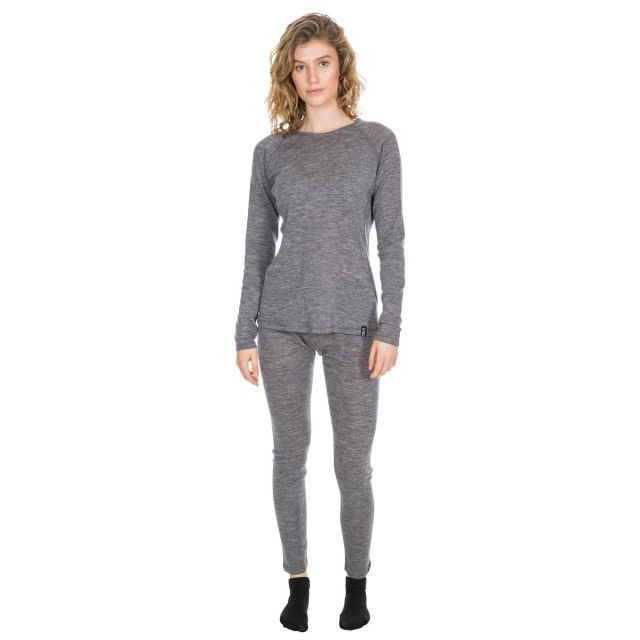 Trespass Women's DLX Long Sleeve Thermal T-Shirt Libra Grey