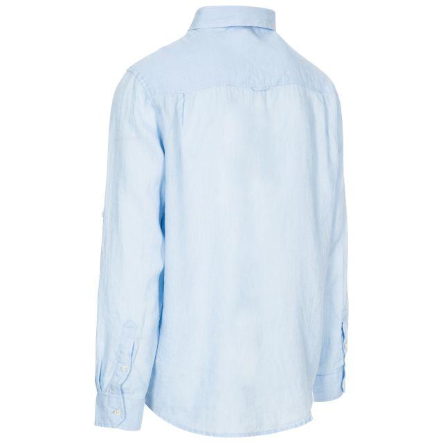 Linley Men's Linen Shirt in Light Blue