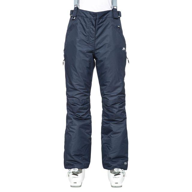 Lohan Women's Waterproof Ski Trousers in Navy, Front view on model