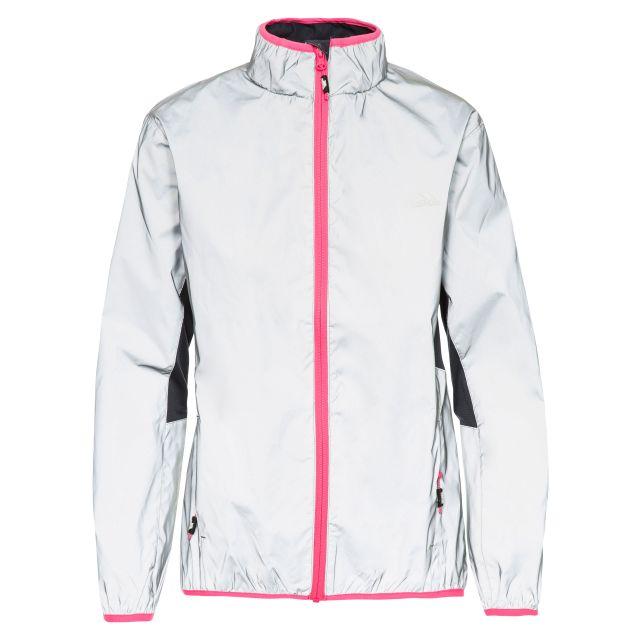 Trespass Womens Jacket Reflective Water Resistant Lumi in Light Grey