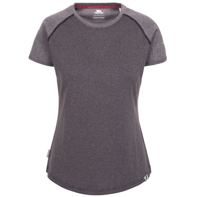 Maddison Women's Active T-Shirt in Grey, Front view on mannequin