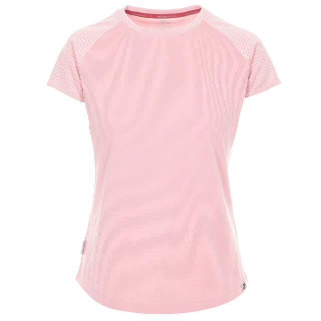 Maddison Women's Active T-Shirt in Pink, Front view on mannequin