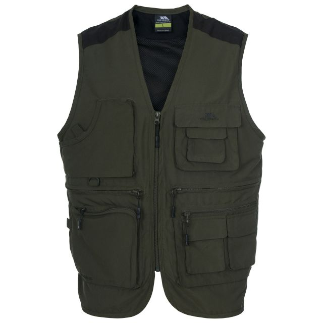 Tackle Men's Mosquito Repellent Fishing Vest in Khaki