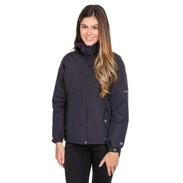 Trespass Womens Waterproof Jacket Malissa in Black