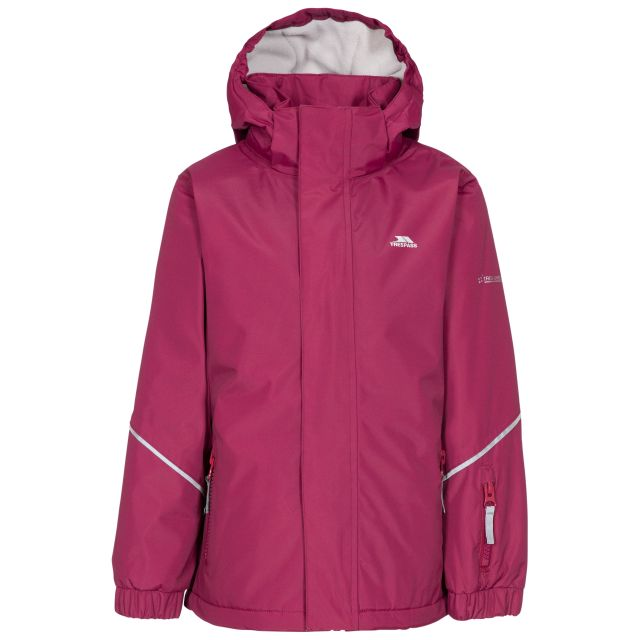 Marilou Kids' Waterproof Jacket in Red, Front view on mannequin