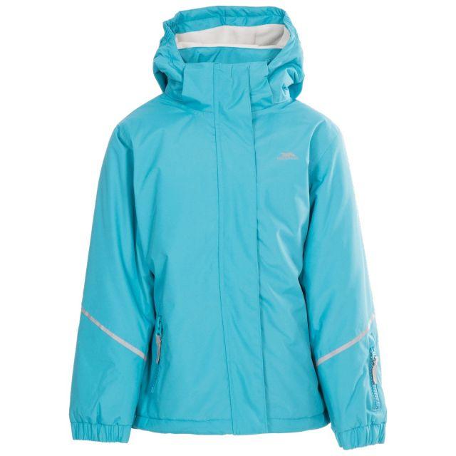 Marilou Kids' Waterproof Jacket in Blue, Front view on mannequin
