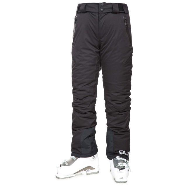 Marisol Women's DLX Waterproof Ski Trousers in Black, Front view on model