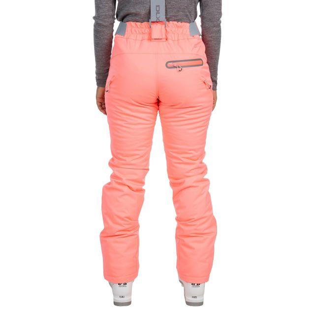 Marisol Women's DLX Waterproof Ski Trousers in Neon Coral