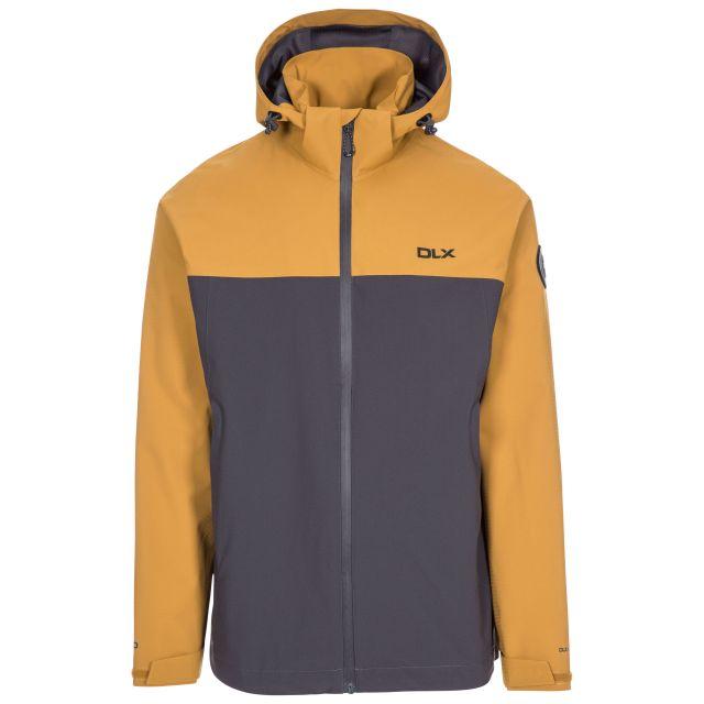 Marton Men's DLX Waterproof Jacket in Beige, Front view on mannequin