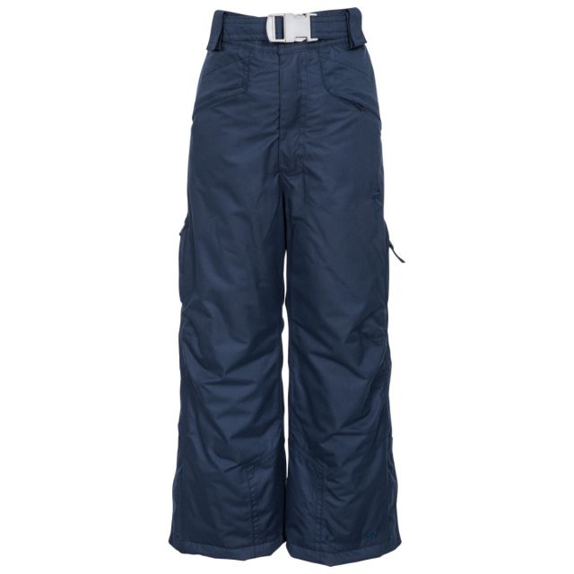 Marvelous Kids' Insulated Salopettes in Navy, Front view on model