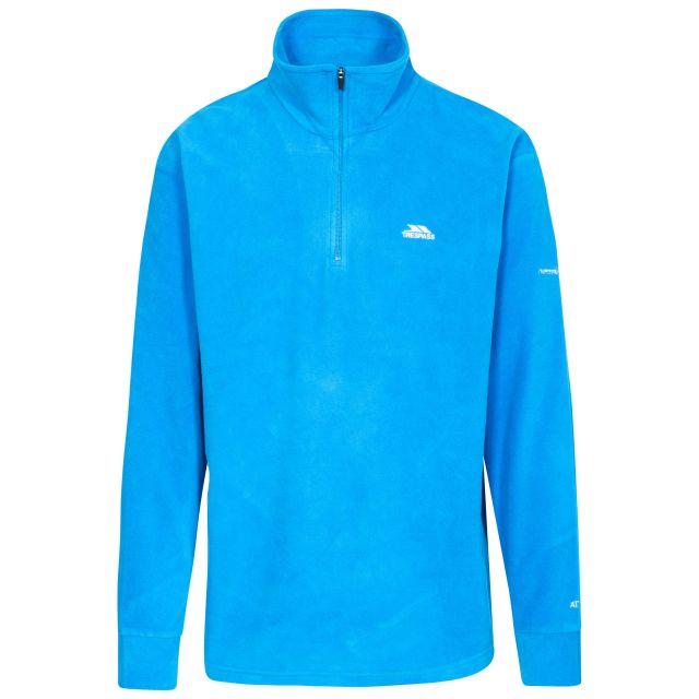 Masonville Men's 1/2 Zip Fleece in Blue, Front view on mannequin