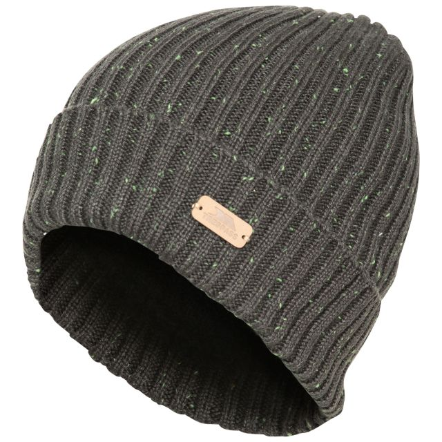 Mateo Men's Beanie Hat in Khaki, Hat at angled view