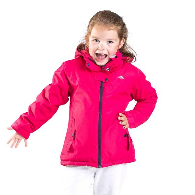 Trespass Girls Padded Waterproof Jacket in Pink Maybole