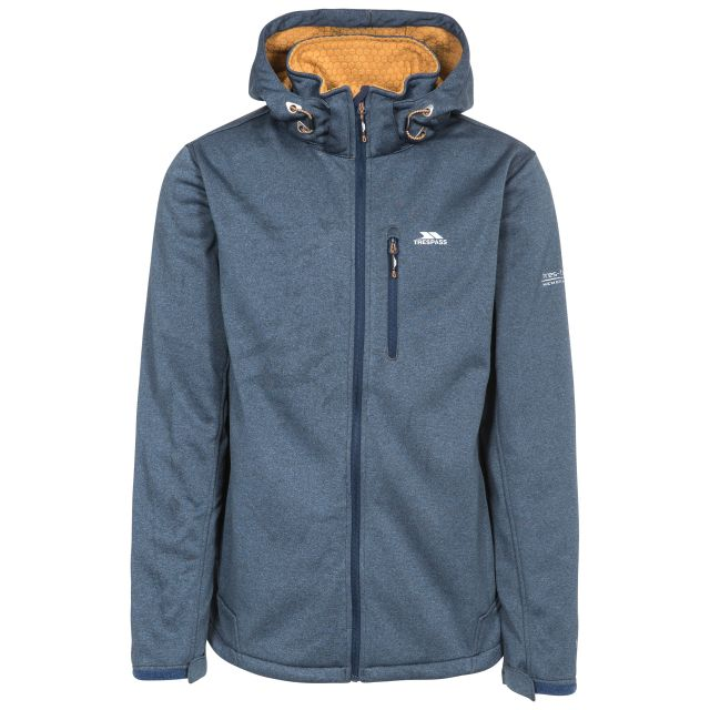 Maynard Men's Breathable Windproof Softshell Jacket in Navy, Front view on mannequin