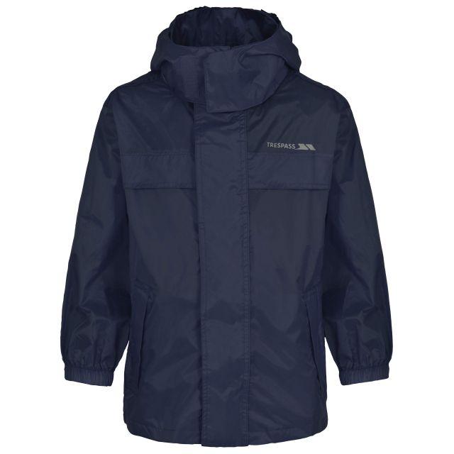 Trespass Kids Waterproof way Jacket in Navy Packa