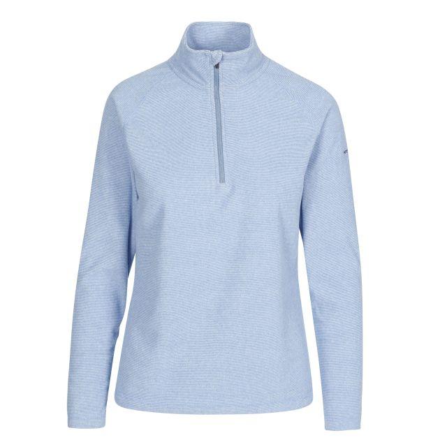 Meadows Women's 1/2 Zip Fleece in Blue, Front view on mannequin