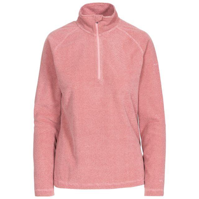 Meadows Women's 1/2 Zip Fleece in Pink, Front view on mannequin
