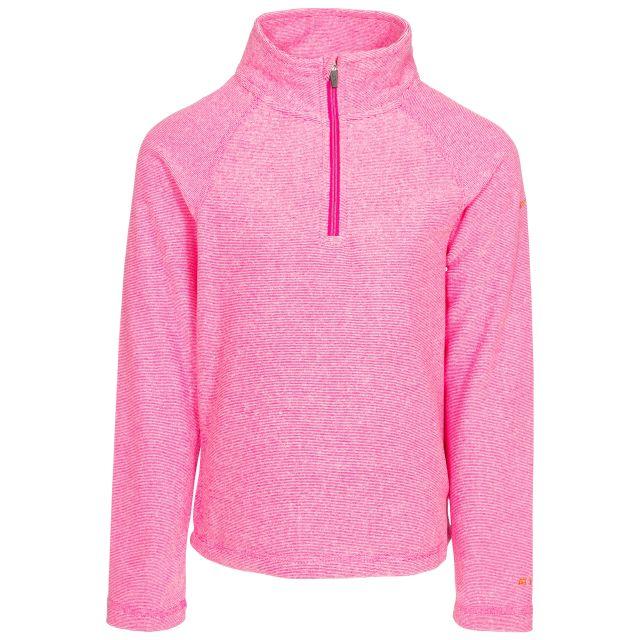 Meadows Kids' Half Zip Fleece in Pink, Front view on mannequin