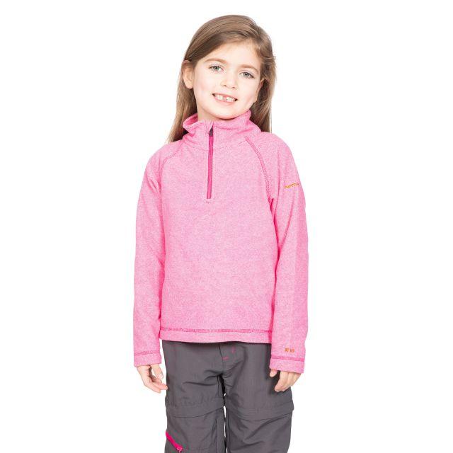 Trespass Kids Half Zip Fleece in Pink Meadows