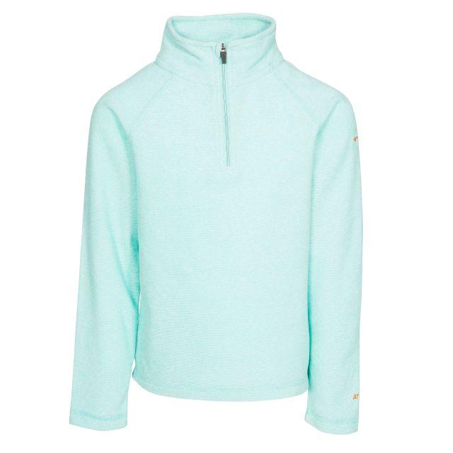 Meadows Kids' Half Zip Fleece in Light Blue, Front view on mannequin