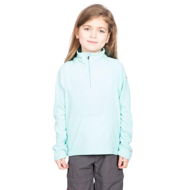 Trespass Kids Half Zip Fleece in Light Blue Meadows