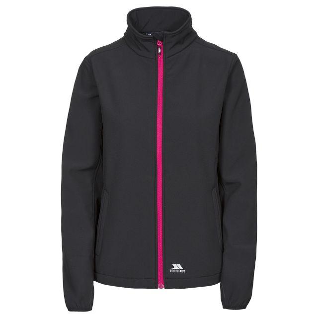 Trespass Womens Softshell Jacket Meena in Black