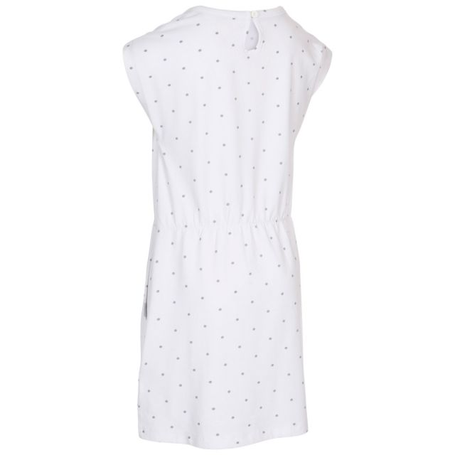Trespass Kids Short Sleeved Dress Round Neck in White Mesmerised