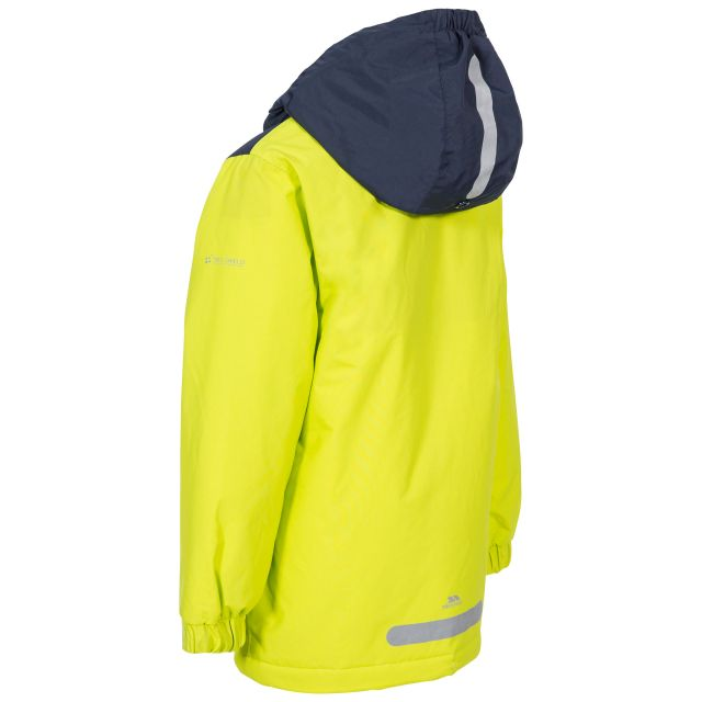 Trespass Kids Padded Waterproof Jacket in Green Mikael