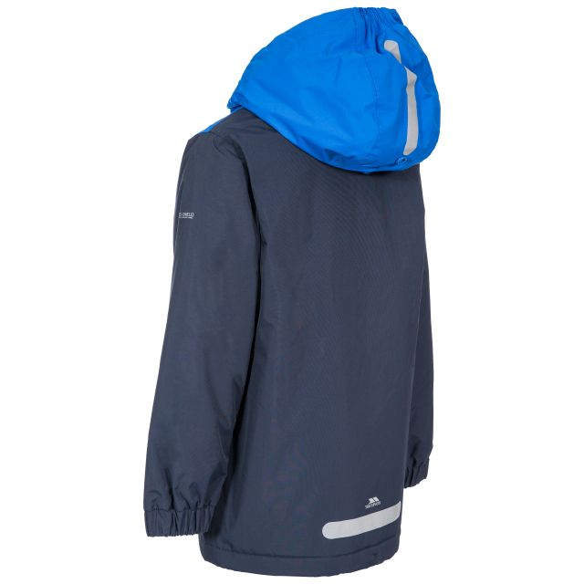 Trespass Kids Padded Waterproof Jacket in Navy Mikael
